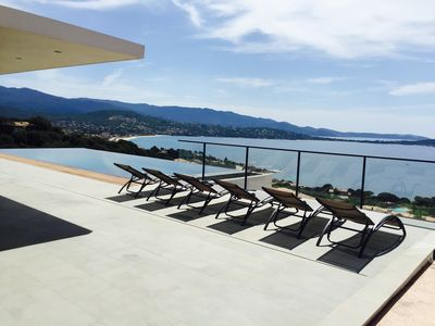 Photo for Superb villa of 300m2 with panoramic views of the gulf of Ajaccio.