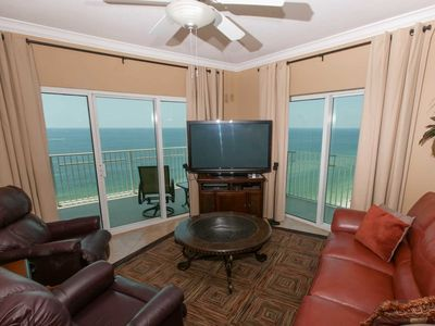 Photo for Pvt Balcony over Gulf, 3/3, Sleeps 8, PS3, Bose, WiFi,W/D, Pool, Hot Tub - Crystal Shores West 1308