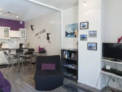 Photo for Renovated 43m2 Apartment T2 any comfort Bourg Saint Maurice Downtown