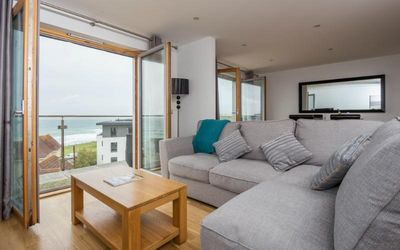 Photo for Penthouse B, a stylishly furnished 2 bedroom apartment with balcony and stunning sea views