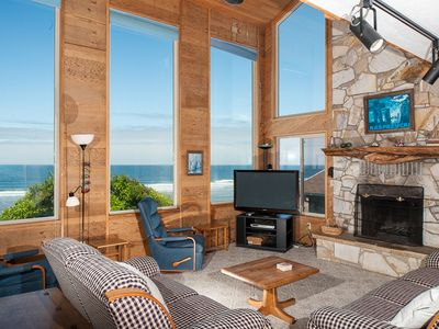 Photo for Experience RidgeTop, a pet friendly oceanfront home with epic Oregon views!