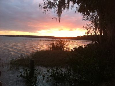 Sunset at Newnans Lake at Palm Point just .5 miles from the apartment.