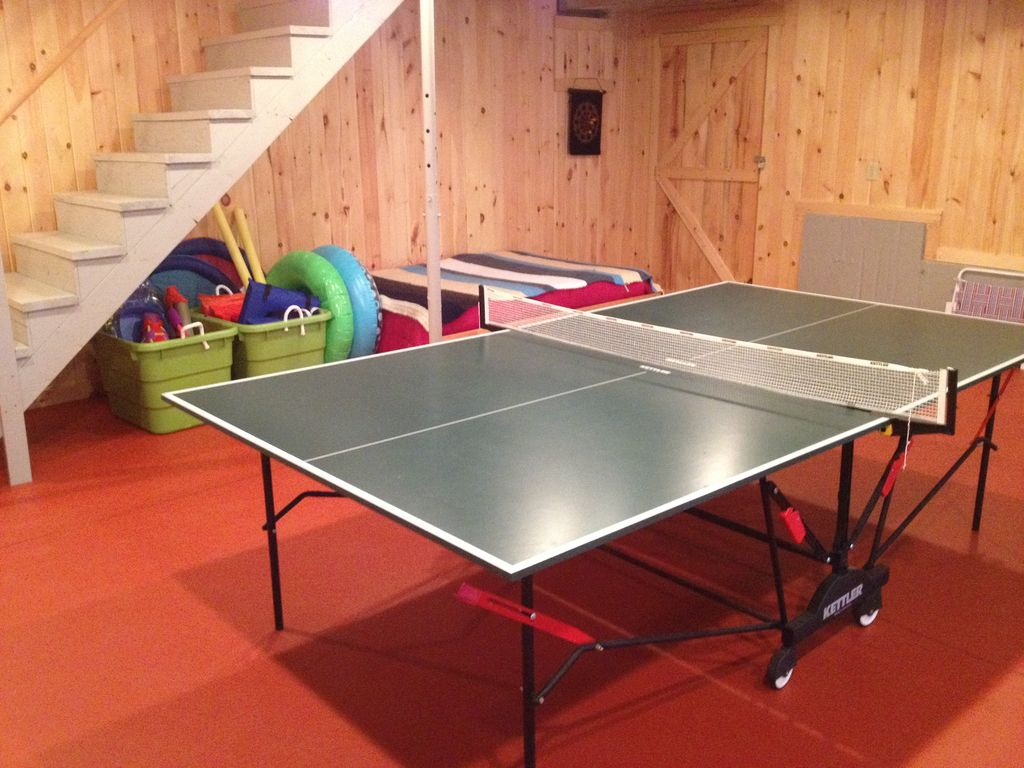 Ping Pong Table And Basement Stairs