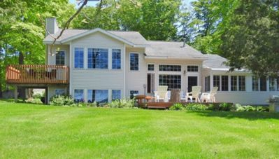 Beautiful Large Waterfront Home with 115' Private Frontage on Duck Lake