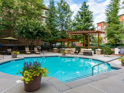 Photo for Free Breakfast + Pool. Studio with FREE Weekday Shuttle.