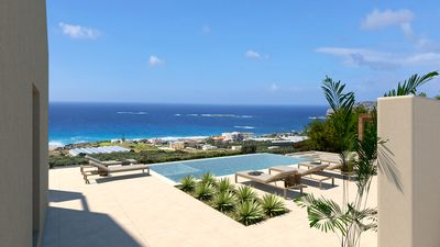Photo for Brand new villa with amazing sea view, 750m from the beach