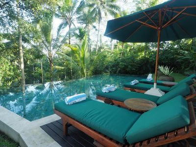 Photo for 3 Bedroom Balinesse Classic Villa, River View Near Ubud;