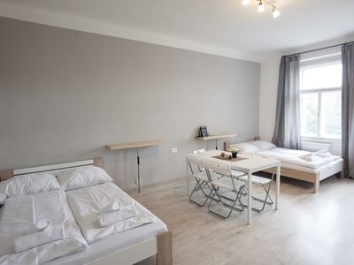 Photo for Two bedroom apartment in Žižkov area ideal for group of friends