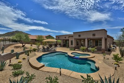 Huge, private backyard provides an oasis for entertaining and relaxation!
