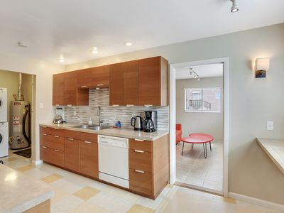 Photo for Hidden treasure oasis, Chefs kitchen, two living areas, garage, lots of parking!