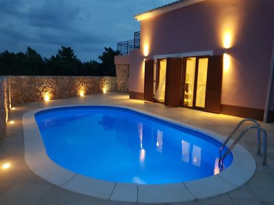 Photo for Pet friendly villa with private pool, 300 meters from beach in peacefull area