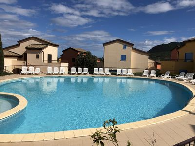 Photo for T2 apartment in residence with pool 400m from the beach of Lozari