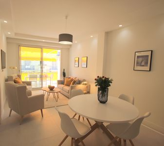 Photo for The Anglican: luxurious 2 beds flat, terrace, pedestrian street 150m from the beach