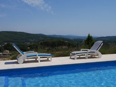 Photo for Nice house with private pool and its amazing view on a charming quiet village