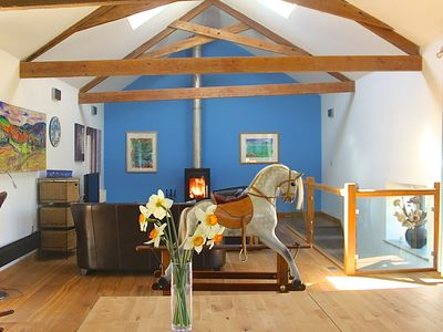 Photo for Fabulous luxury barn conversion on the fringes of Start Bay