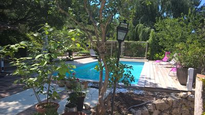 Photo for Les Terrasses du Castelleras - rental with pool up to 6 pers.