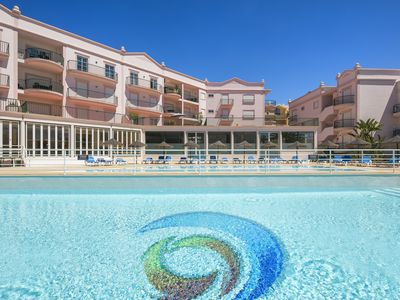 Photo for Seaviews, 2 balconies,  Pool(s), Childrens playarea. close to beach and town ctr
