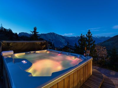 Photo for Chalet le Grand Ours - Luxury 5-bedroom chalet with jacuzzi, ski-in & ski-out, being renovated for 2