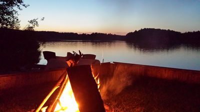 Relax by the fire - s'mores anyone?