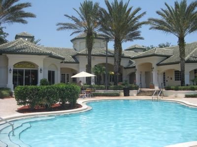 Photo for 9-104 Gated Resort, HEATED POOL, Security, FREE WIFI, free parking, NEAR DISNEY