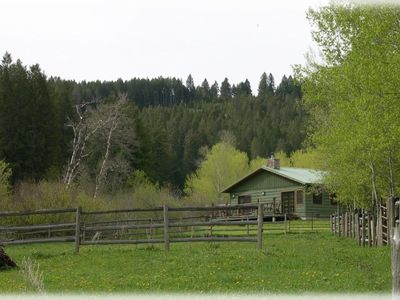 Photo for Beautiful, private cabin on over 100 acres bordering the Gallatin Forest.
