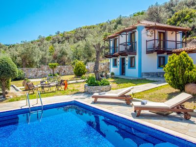 Photo for Villa Glysteri: Large Private Pool, Walk to Beach, A/C
