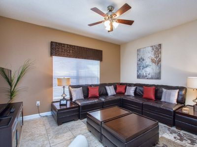 Photo for MINUTES TO DISNEY, GATED RESORT COMMUNITY, FREE WIFI, PRIVATE SPLASH POOL!!