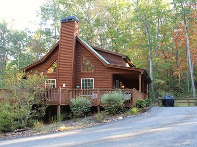 Photo for Secluded, on the Creek, 2 BR Cabin near Helen GA.