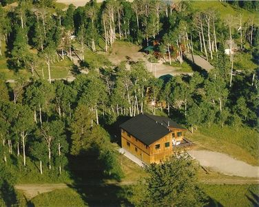 Aerial View of Moose Crossing – Beautiful Mountain Setting