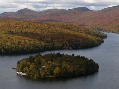 Photo for Rent your own island on Lake Placid!