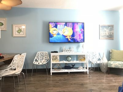 Large Screen TV in the Living Room