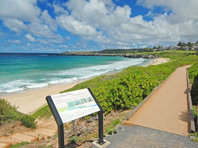 Kapalua Coastal Trail is just 5 minute walk from our front door.