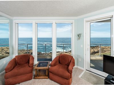 Photo for Only $170/Night** - Oceanfront Views! Fireplace, Gourmet Kitchen & 2 Kings