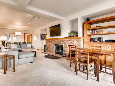 Photo for Shared heated pool & hot tub in ski-in/ski-out complex on Fanny Hill