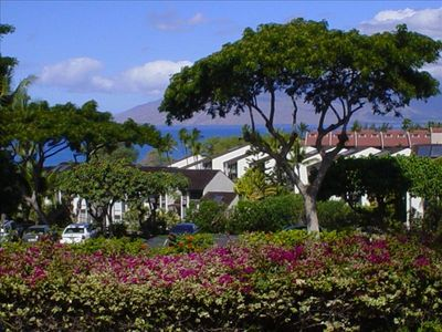 Your striking Over-the-Rooftops view of Maalaea Bay and the West Maui Mountains.