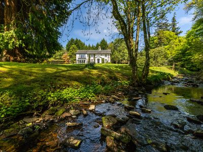 Across our gardens to Strathendrick House from our river