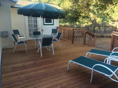 walk out the bedroom door to your private deck and relax
