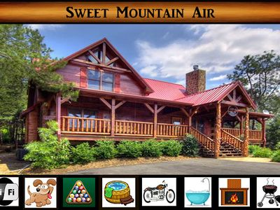 """Photo for """"Sweet Mountain Air"""" - Pool Table / Hot Tub / WiFi / Jacuzzi Tub / Secluded"""