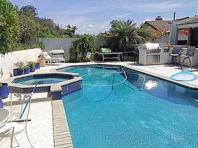 Photo for La Jolla House with a Pool, yard and Views. View Sea World fireworks each night