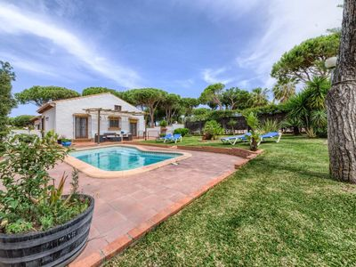 Photo for Casa Los Pinos Torre Atalaya - Comfortable andalucian cortijo with fenced pool not far from the beach