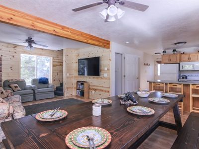 Photo for Spacious mountain cabin, surrounded by the beauty of nature! Cozy up with your loved ones around the