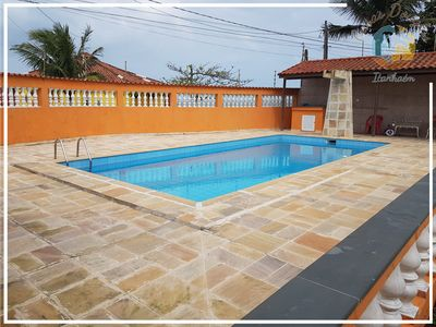 Photo for House 3 Douglas Itanhaém Beachfront with Pool