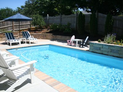 Photo for Brand New Upscale Custom Home w private pool and hot tub - 1 block to the beach!