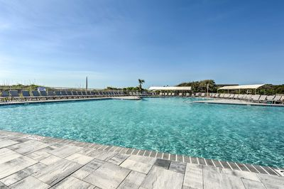 Dive into relaxation in the largest oceanfront pool on the island!