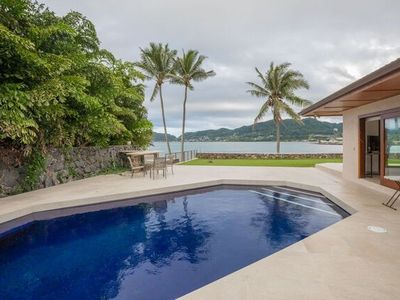 Photo for Springer Estate - Premium home overlooking Kaneohe Bay, AC, Pool