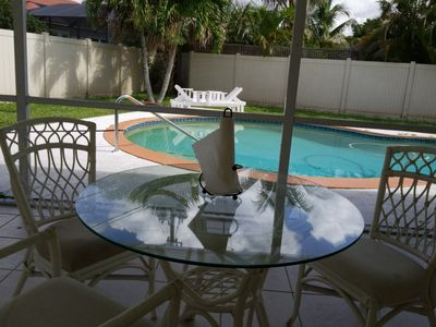 Photo for Beautiful 3/2 Florida Patio Home w/Pool & Fence Yard