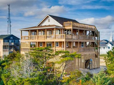 Photo for Newly Built Oceanview Home in Rodanthe - Hot Tub, Sky Bar w/ Amazing Ocean Views