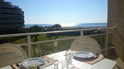 Photo for Apartment seafront luxury building South Canet with parking and access WIF