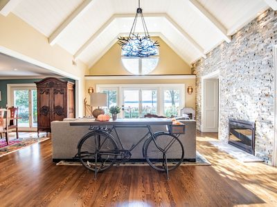 Photo for This stunning 3-story home is nestled along Horton Bay on Lake Charlevoix.