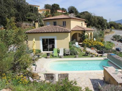 Photo for PROVENCE GATTIERES SEA VIEW and VAR VALLEY; SWIMMING POOL; IDEAL FAMILY